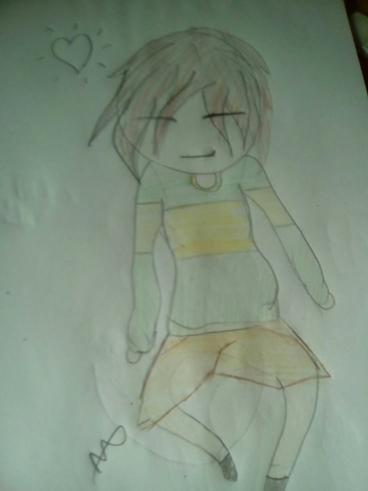 This is chara from under tale original art by me.