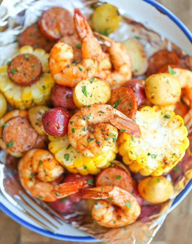 12 Flavorful Foil Pack Recipes - Shrimp Boil Foil Packets