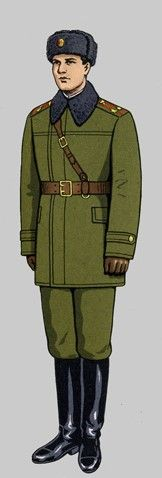 Red Army 1970 Winter field Pin by Paolo Marzioli