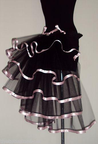 Burlesque Tutu Skirt Bustle Black Baby Pink Belt Size 6 8 10 12   eBay