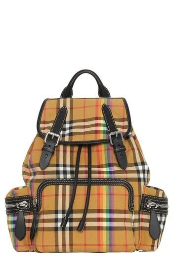 Burberry Medium Rucksack Vintage Check Cotton Backpack Stylish