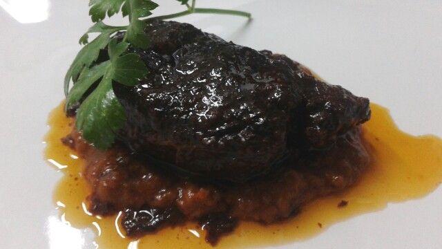 Carrillera al horno con salsa de verduras...nuestra ultima receta #destinorural  #sierradearacena