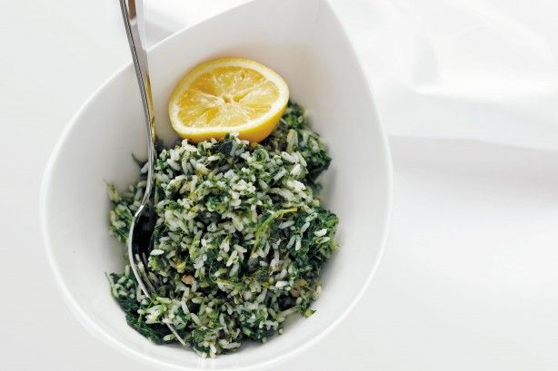 The simplest way to eat more greens? Add them to rice.