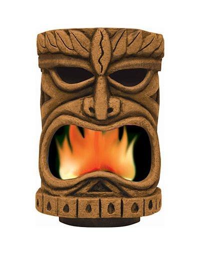 Flaming Tiki Head Decoration - Party City