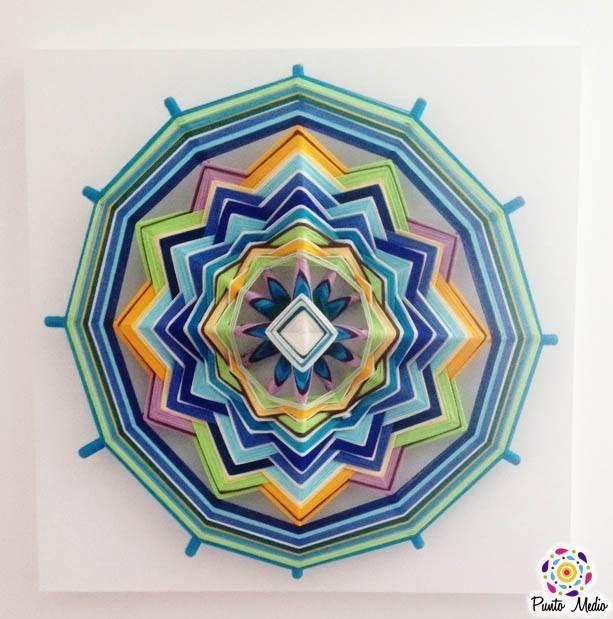 Mandala de la contemplación. Este mandala tiene un poder tan grande, que es casi imposible dejar de mirar y de contemplarlo.  Sus colores representan la tranquilidad, la profundidad, la alegría y la sanación. www.facebook.com/Ptomedio