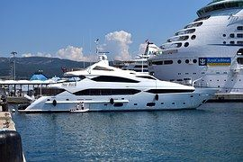 Jacht, Luxus Yacht, Hajó, Csomagtartó