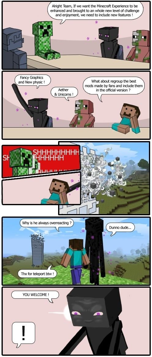 Minecraft boardroom - funny pictures - funny photos - funny images - funny pics - funny quotes - #lol #humor #funny