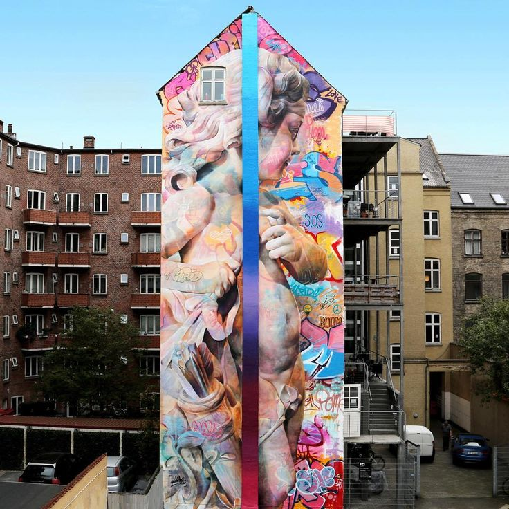 Best Pichiavo Images On Pinterest Street Art Graffiti Urban - Beautiful giant murals greek gods pichi avo