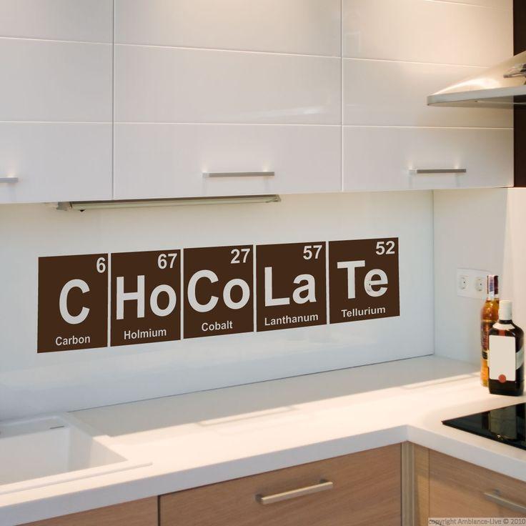 Stickers muraux pour la cuisine - Sticker chocolat / éléments du tableau périodique | Ambiance-live.com