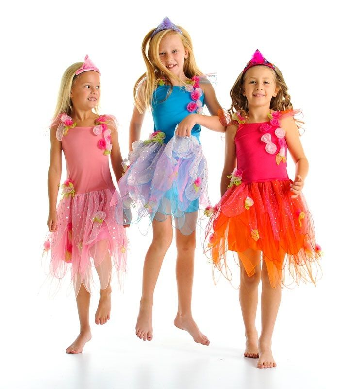 This divine fairy Dress is adorned in Handmade organza flowers and has sparkly spot glitter petals on the skirt. A lovely combination of colours and fabrics. $42.00  *Some slight colour variations may be noticed from computer/device screens to that of the actual item*