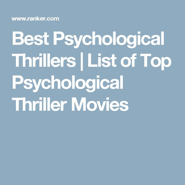 Best Psychological Thrillers | List of Top Psychological Thriller Movies
