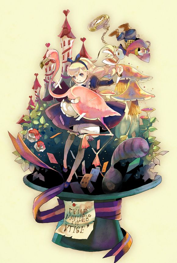 If Alice in Wonderland was an animecute