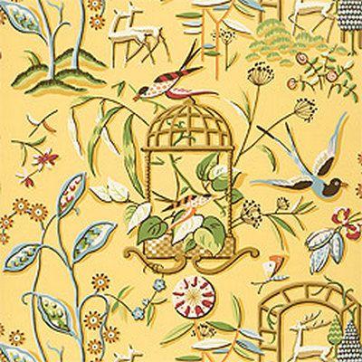 обои с животными и цветами T134 Yellow Thibaut