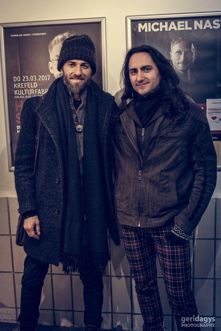 2014 Estas Tonne and Michael Shulman backstage in Krefeld, Germany. Photo by Geri Dagys. #estastonne #street #performance #guitar #music #gypsy #flamenco #latin #krefeld #goa #meditation #atmospheric