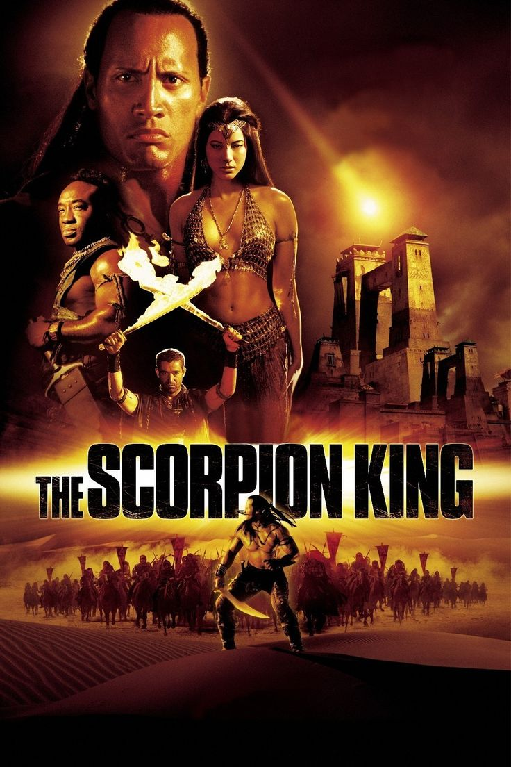 """The Scorpion King ** (2002) - Wrestling star Rock (Dwayne Johnson) reprises his role from """"The Mummy Returns"""" . The Rock plays Mathayus, an assassin who takes on an evil conquerer (Steven Brand) and his powerful sorceres (Kelly Hu). (Action/Adventure)"""