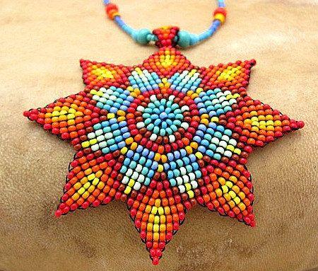 Semillas cuentas joyería de arte Mandala collar nativo