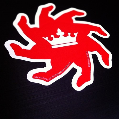 King of the Iron Thumb Sticker