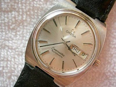 Vintage Omega Seamaster Day/Date Stainless Steel Automatic Cal. 1020 Men's Watch