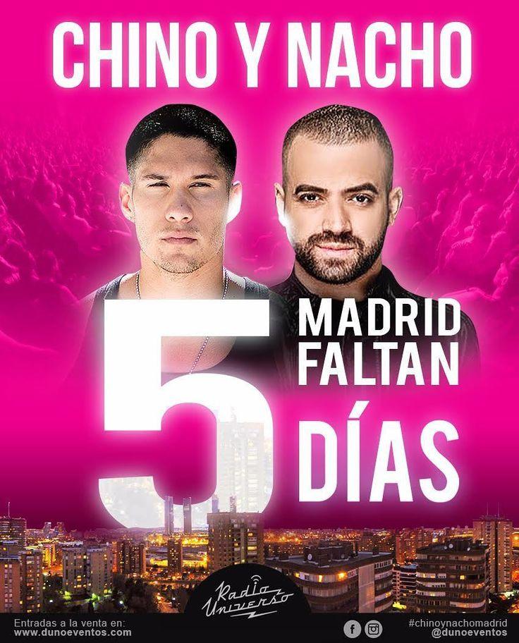 Solo faltan CINCO días para que Madrid recibe a CHINO y NACHO  No dejen que te lo cuenten! Quedan muy poquitas entradas compralas en la revistavenezolana.com