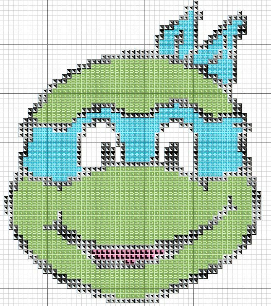 Free Cross Stitch Chart - TMNT Blue Teenage Mutant Ninja Turtle Leonardo