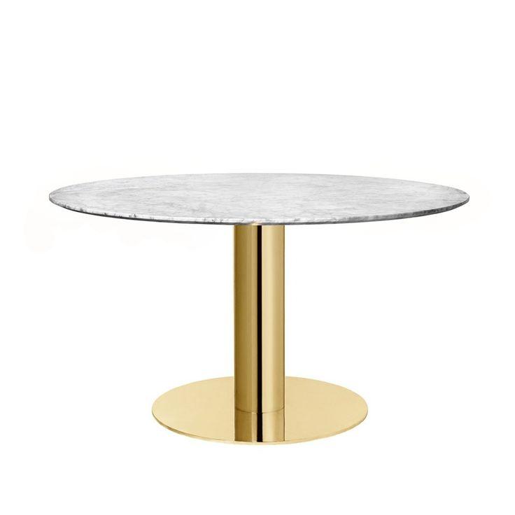 Gubi 2.0 Round Dining Table Brass Base