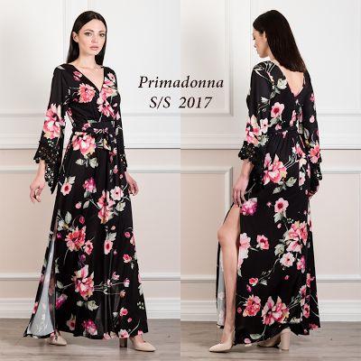 Γυναικεία μόδα by Primadonna : Maxi ελαστικό φόρεμα με λουλούδια