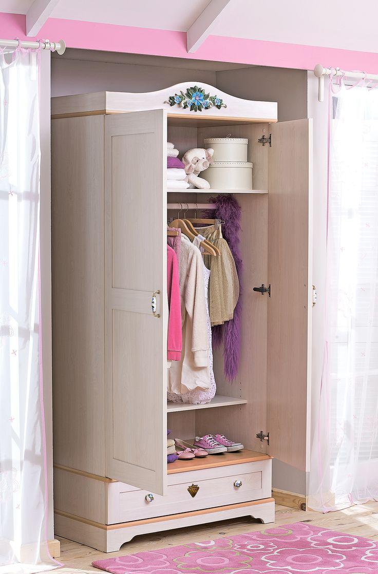 Детский двухдверный шкаф Cilek Flora