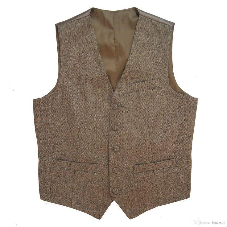 2016-tweed-vintage-rustic-wedding-vest-brown