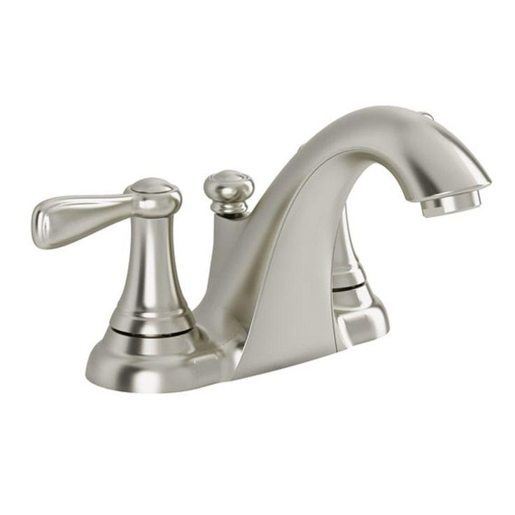 American Standard Marquette 4 in. Centerset 2-Handle Bathroom Faucet in Satin Nickel - 7764SF - The Home Depot