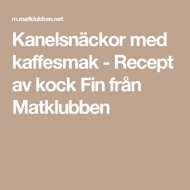 Kanelsnäckor med kaffesmak - Recept av kock Fin från Matklubben