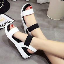 Mujeres zapatos de verano mujer sandalias 2016 peep toe zapatos planos de las…