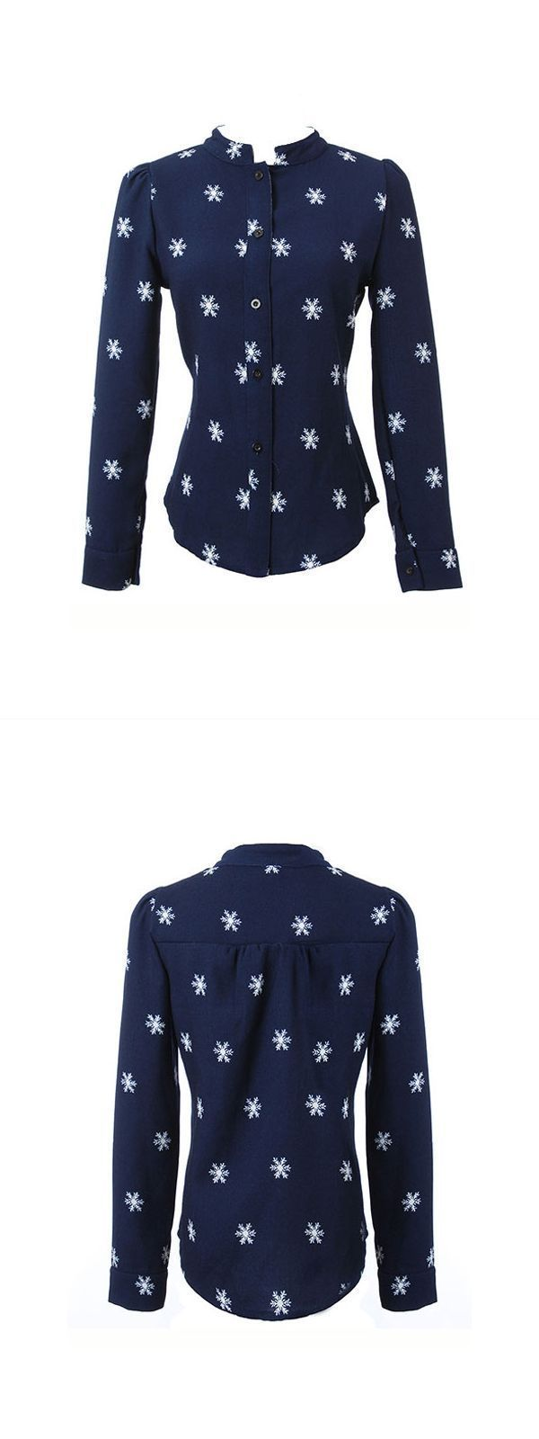 Blouse woman hot photos long sleeve stand collar snow print casual blouse #target #womens #blouses #womens #blouses #online #shopping #womens #rayon #blouses #womens #shirts #and #blouses #uk