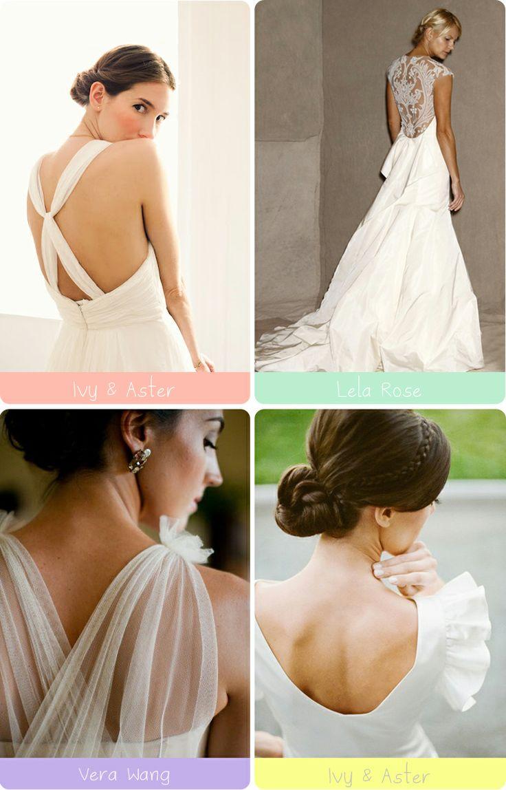 Escotes en la espalda #boda #vestidos
