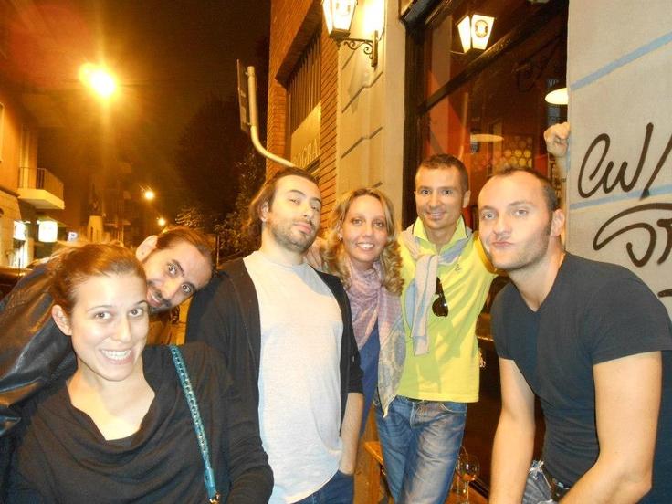 Friends in Milan....