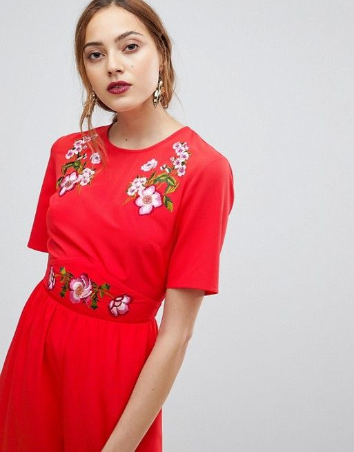7f6e98838a4dd TALL Embroidered Tea Jumpsuit in 2019 | Vêtements et accessoires ...