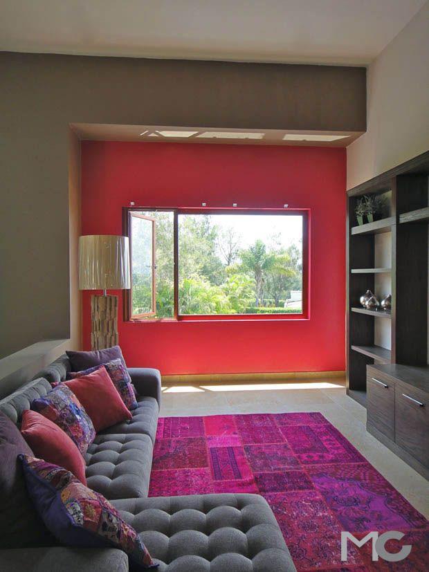 Sala de TV, diseño Mariangel Coghlan Interiorismo