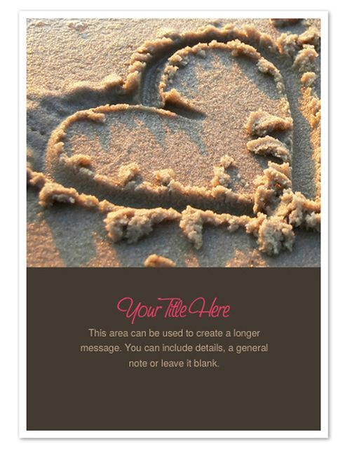 Make Someone Smile With These Free Valentine's Day Ecards: Heart in Sand by Pingg