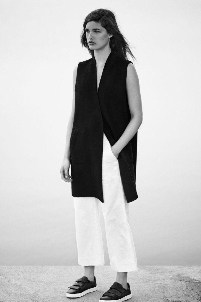 Longline waistcoat & relaxed trousers, chic minimalist fashion // Rag & Bone Resort 2016