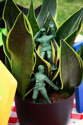 Toy Story Party Centerpieces or rep the soldiers in Matt smith Crying Angels dr Who