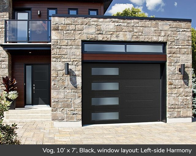 Vog 10 X 7 Black Window Layout Left Side Harmony Contemporary Garage Doors Garage Door Design Modern Garage Doors