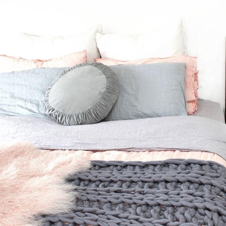 Merino Chunky Throw Blanket - Extra Large - Ash