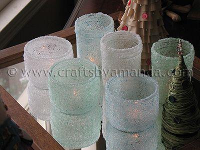 Epsom Salt Luminaries: Some Winter Beauty: Crafts Ideas, Canning Jars, Epsom Salts, Jars Candles, Candles Holders, Candles Jars, Salts Luminari, Mason Jars, Winter Beautiful