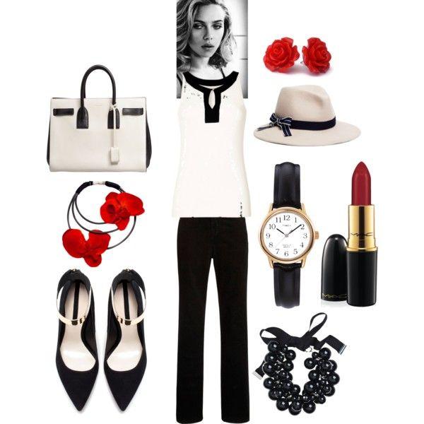"""Black&White"" by juditvilimi on Polyvore"