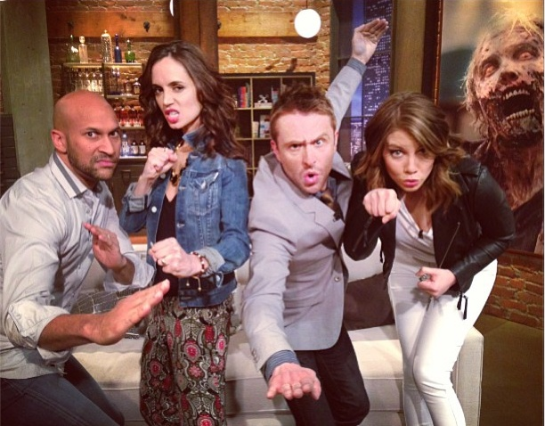 Keegan-Michael Key, Eliza Dushku, Chris Hardwick & Lauren Cohan on Talking Dead