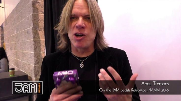 Andy Timmons on the JAM pedals RetroVibe (NAMM show 2016)