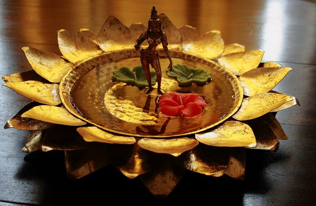 Diwali decor at home. I will post the photo of this at night with the lights on.    Hope you'll have a great diwali celebrations
