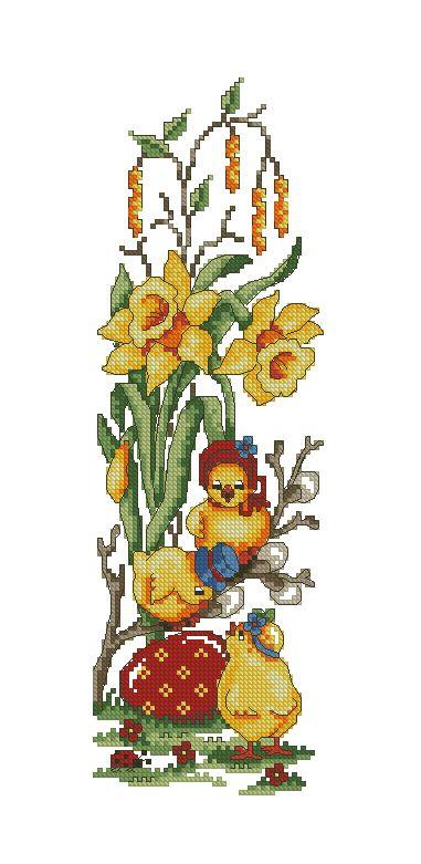Easter bell pull 1/3  Kreuzstich