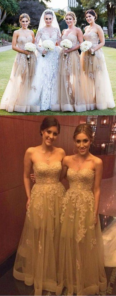 2017 Sexy Unique Lace Long Wedding Bridesmaid Dresses, BD0002 – SposaDesses