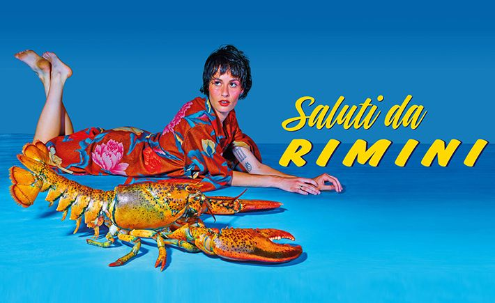 Saluti da Rimini • It's rare that a town mayor would choose imagery that highlights the bad taste and the decadence of an area to promote tourism, but Rimini's own, along with curator Maria Cristina Didero have chosen to do just that.