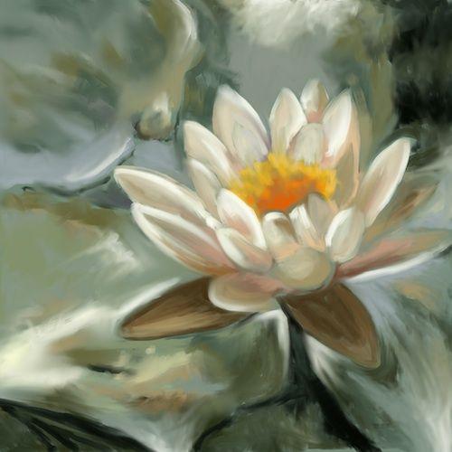 http://www.jkretschmer.com/pages/30in30.html Lily Green iPad Painting by Jennifer Kretschmer